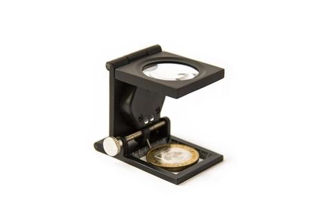 Лупа для монет, настольная с подсветкой