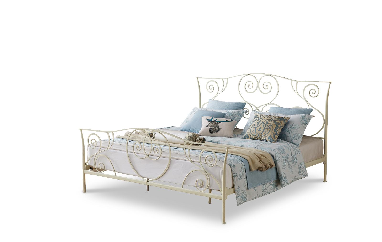 Кровать ESF TDF-0818 кремовая
