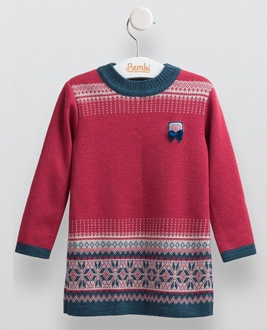 ПЛ213 Платье вязаное для девочки