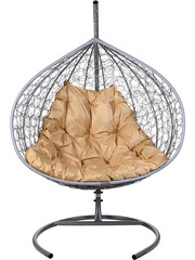 Подвесное кресло двухместное Gemini Lite Gray