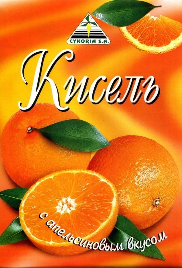 Кисель с апельсиновым вкусом, 90 гр.