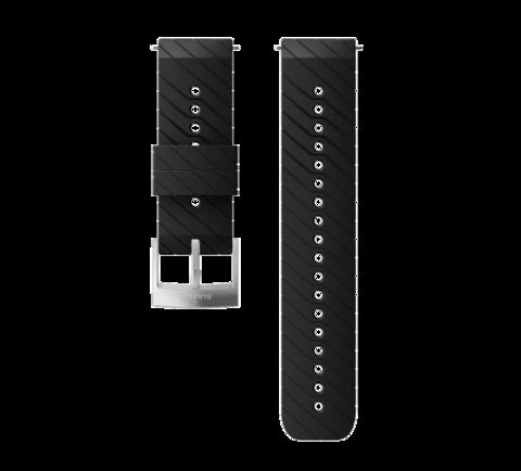 Силиконовый ремешок Suunto Athletic 3, Black Steel, 24 мм, размер M, 9/Ultra/Sport