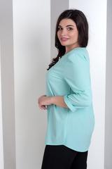 Ліза. Стильна блуза великих розмірів. М'ята