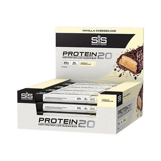 Батончик SiS Protein 20, Ванильный Чизкейк, 55г. Упаковка 12 шт