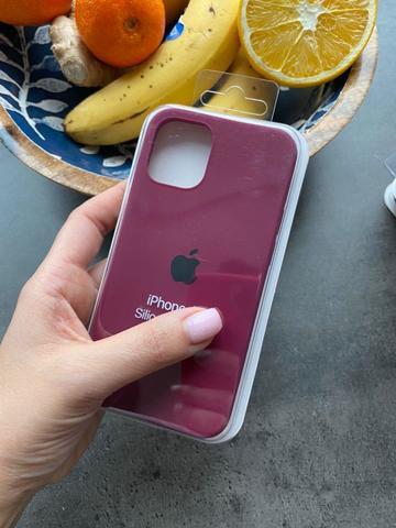 Чехол iPhone 12 (6,1) Silicone Case Full /marsala/
