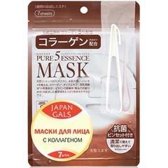 Маска для лица Japan Gals с коллагеном 7 шт