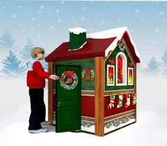 Рождественский новогодний домик