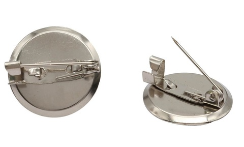 Основа для броши круглая, 35 мм