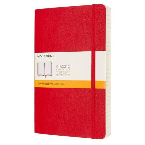 Блокнот Moleskine Classic Soft Expended QP616EXPF2 Large 130х210мм 400стр. линейка мягкая обложка красный