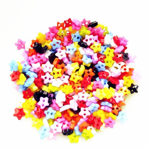 Гудзики пластикові Let's make міні-зірочки 6 мм асорті. Набір 20 шт.