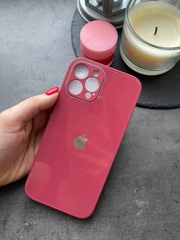 Чехол iPhone 12 /6,1''/ Glass Pastel Full Camera /camellia/