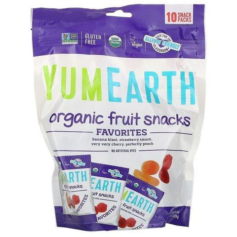 Фруктовые закуски органического происхождения, оригинальные, 10 пакетов, 19,8 г каждый