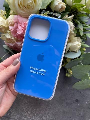 Чехол iPhone 13 Pro Silicone Case Full /capri blue/