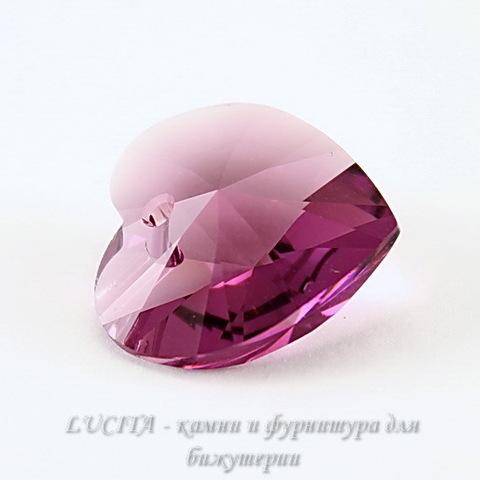6202/6228 Подвеска Сваровски Сердечко Amethyst (18х17,5 мм)