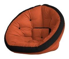 Кресло Farla Lounge Оранжевое с чёрным