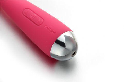 Розовый вибростимулятор Mini Emma с гнущейся головкой-шаром - 16,5 см.
