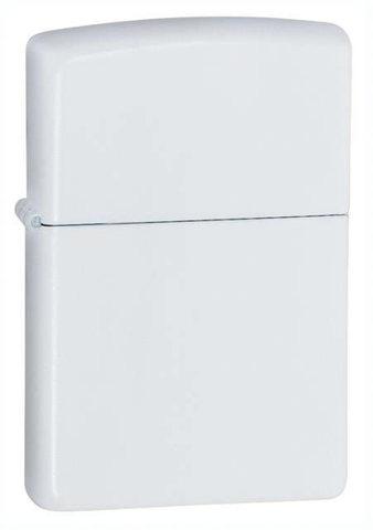 Зажигалка Zippo  (214) Classic с покрытием White Matte латунь/сталь белая матовая 36x12x56 мм