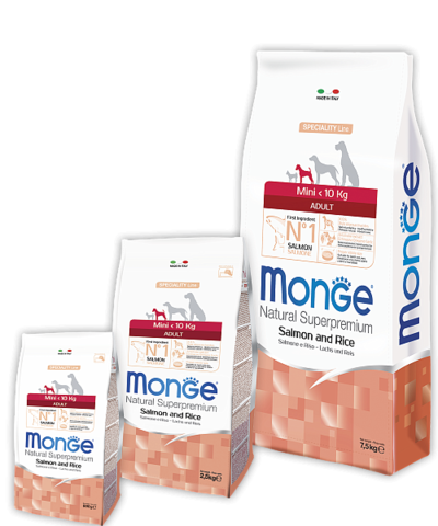 Monge Speciality Line Mini Adult Dog Salmone and Rice