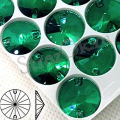 Купить стразы пришивные оптом Malachite, Rivoli зеленые