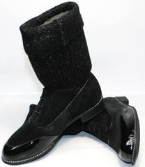 Полусапожки женские замшевые Kluchini 5161 k255 Black