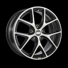 Диск колесный BBS SR 7.5x17 5x100 ET48 CB70.0 volcano grey/diamond cut