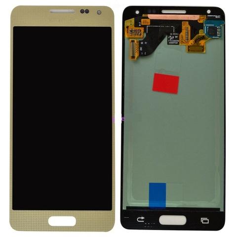 LCD SAMSUNG G850F Alpha + Touch Gold Orig MOQ:5