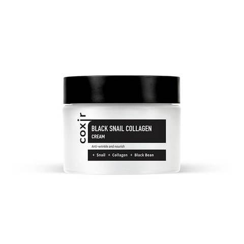 COXIR  Black Snail Collagen Cream Крем для лица на основе муцина улитки и коллагена