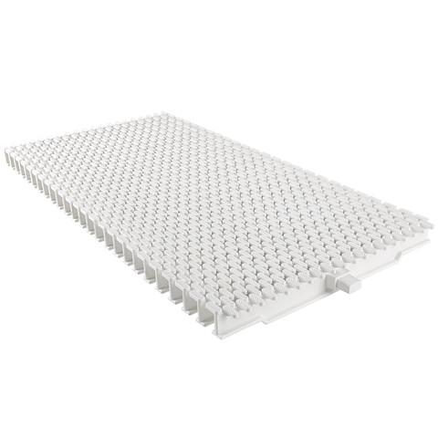 Переливная решетка Aquaviva TG-03 Grift Claw с центральным соединением 245x25 мм (белая) / 22750