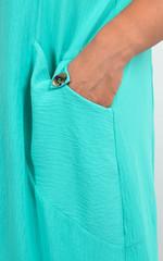 Алегра. Літнє спортивне плаття з капюшоном великого розміру. М'ята.