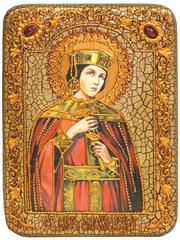 Инкрустированная Икона Святая мученица Александра Римская 20х15см на натуральном дереве, в подарочной коробке