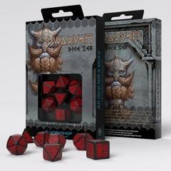 Dwarven Black & red Dice Set (7)