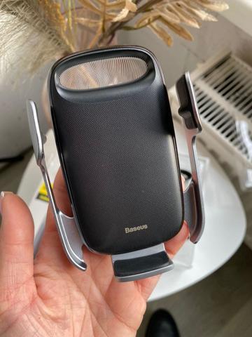 Автомобильный держатель с беспроводной зарядкой Baseus Milky Way Wireless 15W /black/