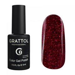 Гель-лак Grattol, Color Gel Polish LS Ruby 03, рубин, 9 мл