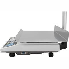 Весы торговые настольные CAS AP-1 (30EXb), RS232, 30кг, 5/10гр, 220x340, память на 200 товаров, увеличенная платформа, с поверкой, со стойкой