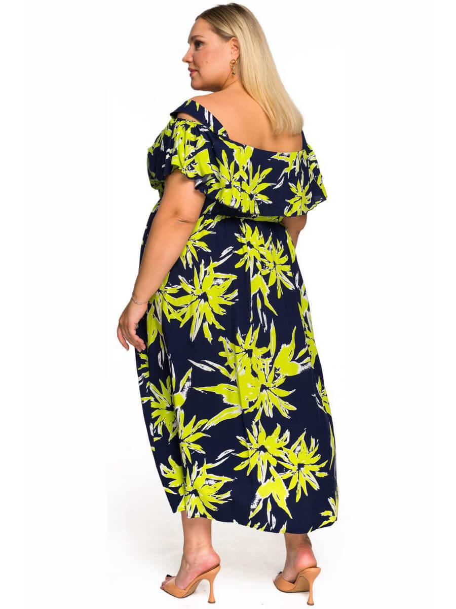 Платье с крылышком Тропики
