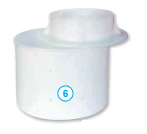 Круглая форма для сыра с крышкой поршнем  (до 3,2 кг)