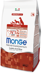 Monge Speciality Line Puppy&Junior All Breeds Lamb and Rice
