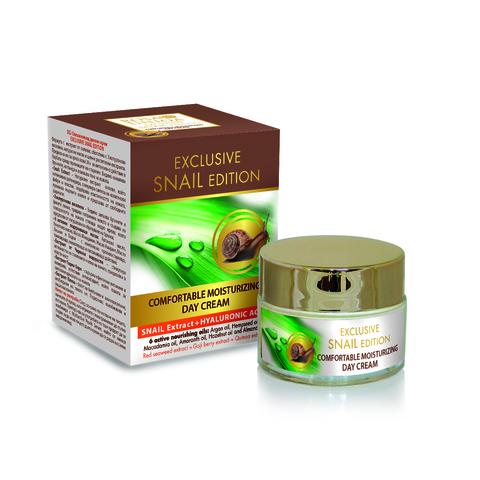 Увлажняющий дневной крем для лица с экстрактом улитки и гиалуроновой кислотой, 50 мл.
