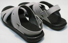 Мужские пляжные сандалии кожа Ikoc 3294-3 Gray.