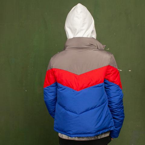 Детская демисезонная синяя куртка из водоотталкивающей плащевки