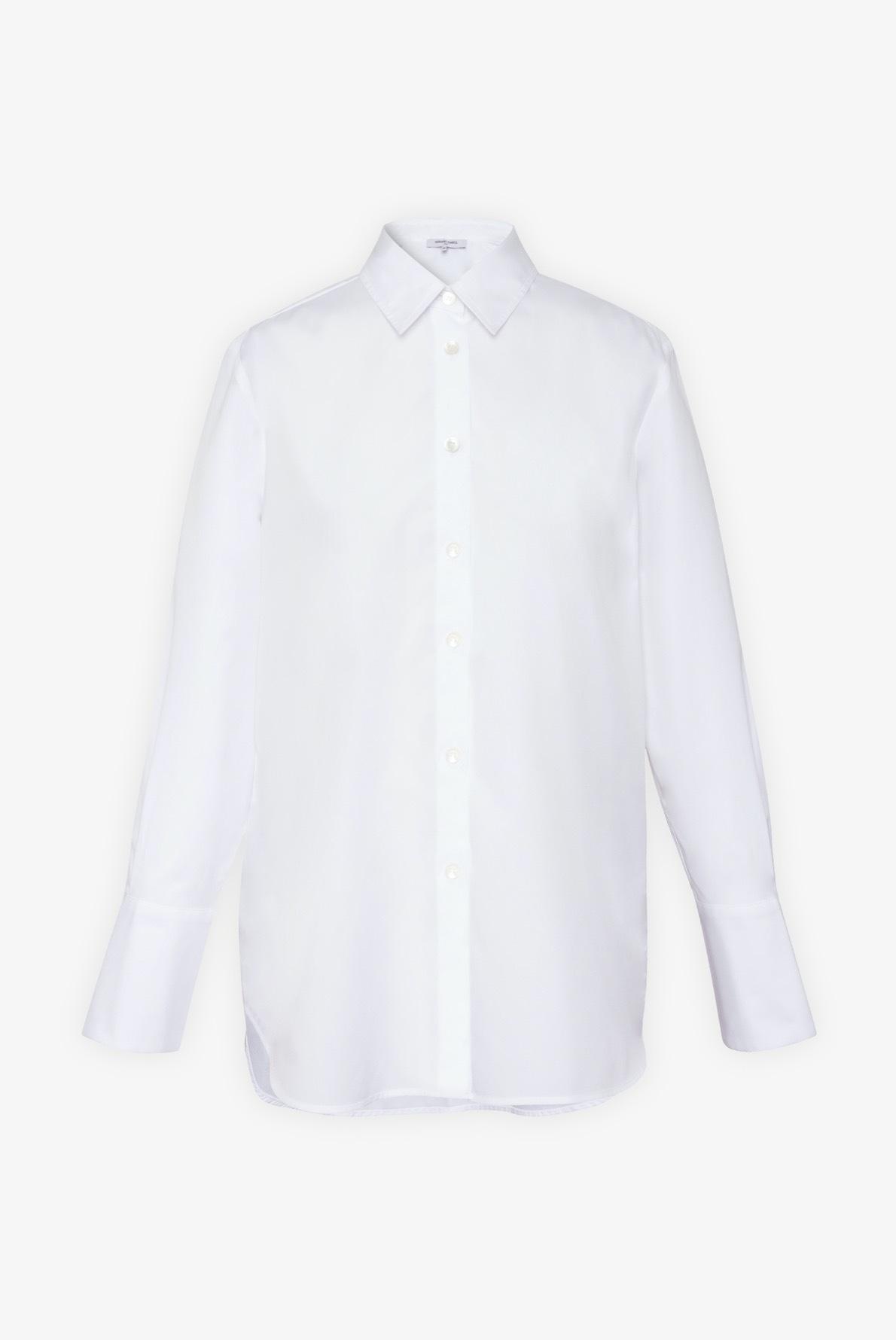 Рубашка из хлопка с с изящными пуговицами