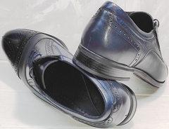 Классика туфли мужские осенние Ikoc 3805-4 Ash Blue Leather.