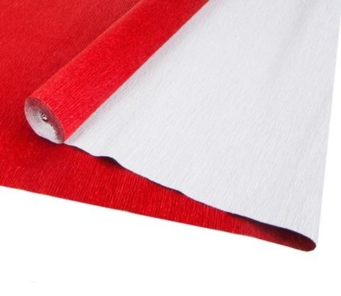 Бумага гофрированная металл, цвет 913 красный, 140г, 50х250 см, Cartotecnica Rossi (Италия)