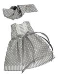 Платье летнее - Серый. Одежда для кукол, пупсов и мягких игрушек.