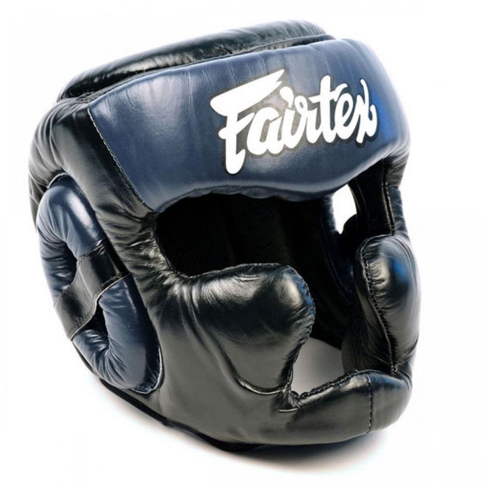 Шлемы Шлем Fairtex Headguard Full Cover HG13F Black/Blue 1.jpg