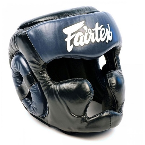 Шлем Fairtex Headguard Full Cover HG13F Black/Blue