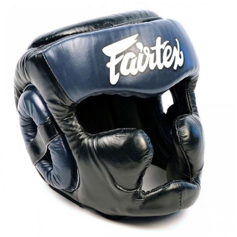 Шлем Fairtex Headguard Full Cover HG13F Black/Blue