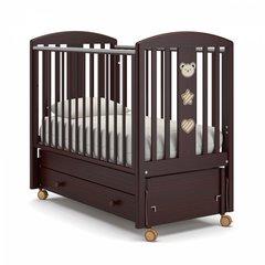 Кровать детская Дени Люкс махагон