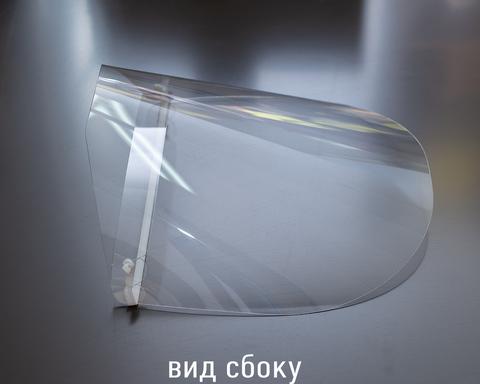 Защитный экран (щиток) для лица ДекорКоми с резинкой, многоразовый 2шт