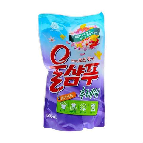 Жидкое средство для стирки Aekyung Wool Shampoo Fresh для деликатных тканей Свежесть 1,3 л